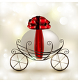 easter basket carriage vector image vector image