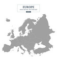 europe map gray color separated all countries vector image vector image