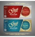 Gift voucher template with colorful patterncute vector image vector image
