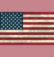 grunge usa flag ill vector image