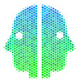 halftone blue-green dual face icon vector image vector image