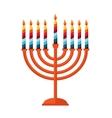 happy hanukkah jewish holiday Hanukkah meora vector image vector image