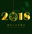 happy new year 2018 with glitter text design of vector image vector image