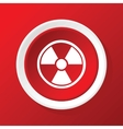Hazard icon on red vector image vector image