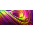 iridescent curly stream liquid striped shape vector image vector image