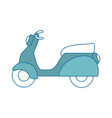 isolated cute motorcycle vector image vector image