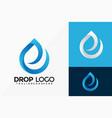letter e drop water logo design abstract emblem vector image vector image