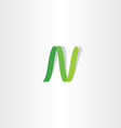 letter n logo green logotype icon sign vector image