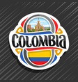 logo for colombia vector image vector image