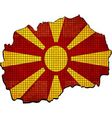 Macedonia map with flag inside vector image vector image
