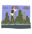 man coming back home after work businessman going vector image