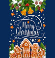 merry christmas happy holiday greeting card vector image vector image