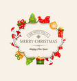 merry christmas light greeting poster vector image vector image