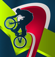 modern dynamic designed sport background bmx vector image vector image