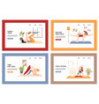 mom and daughter yoga classes together - a set of vector image vector image