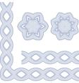 Ornamental guilloche seamless pattern vector image