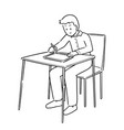 people drawing on tablet vector image vector image