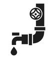 Plastic water tap icon simple style