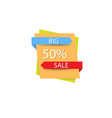 poster big sale on a white background vector image vector image