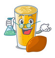 professor lassi mango in a cartoon bottle vector image vector image