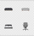 realistic boss armchair mattress lounge and vector image vector image