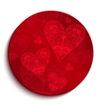 Red Circle Pattern for Valentines Day vector image