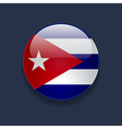 Round icon with flag of Cuba vector image vector image