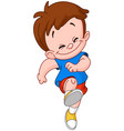 running skipping kid vector image