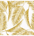 Seamless exotic pattern with palm leaf silhouettes vector image