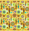 seamless texture with ethnic pattern and lovely vector image vector image
