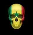 Senegalese flag skull vector image