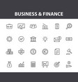 set 24 business and finance web icons in line vector image vector image