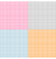 Set of Fabric Texture vector image vector image