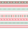 set of seamless ribbons vector image vector image