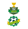 Set of vintage Brazil soccer champions ribbons vector image vector image