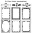 set of Vintage Frames 36 vector image