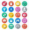 Setting flat color icons vector image vector image