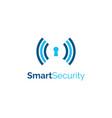 smart security logo design symbol template vector image