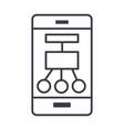 smartphone scheme structure line icon vector image