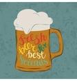 Tankard pint glass or glassware goblet mug or jug vector image vector image