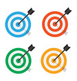 targets icon on white background flat style vector image