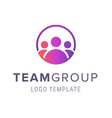 team group logo template creative people logo vector image vector image