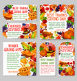 thanksgiving day holiday tag and label set design vector image vector image