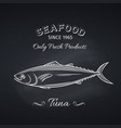 tuna hand drawn icon vector image vector image
