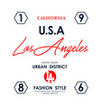 usa los angeles typography design vector image vector image