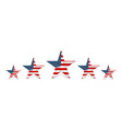 usa star in national colors america vector image vector image