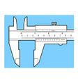 Vernier caliper tool vector image