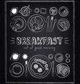 vintage poster breakfast menu sketches vector image vector image