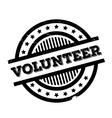 Volunteer rubber stamp vector image vector image