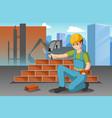 working construction worker vector image